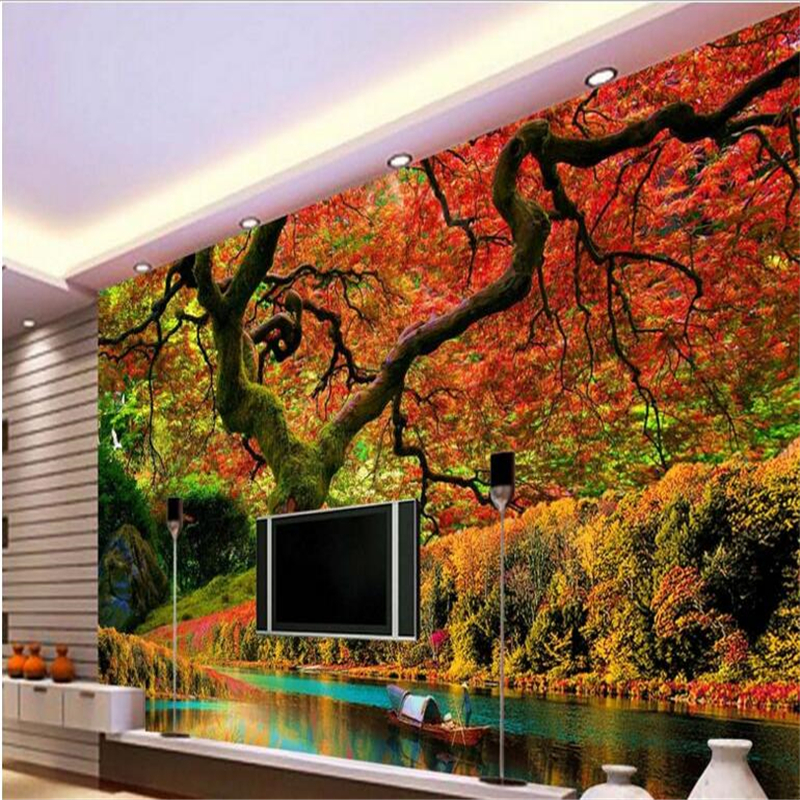 beibehang Design of Large - scale Custom Wallpapers Super - clear Big Tree Landscape Wall waterproof wallpaper for bathrooms