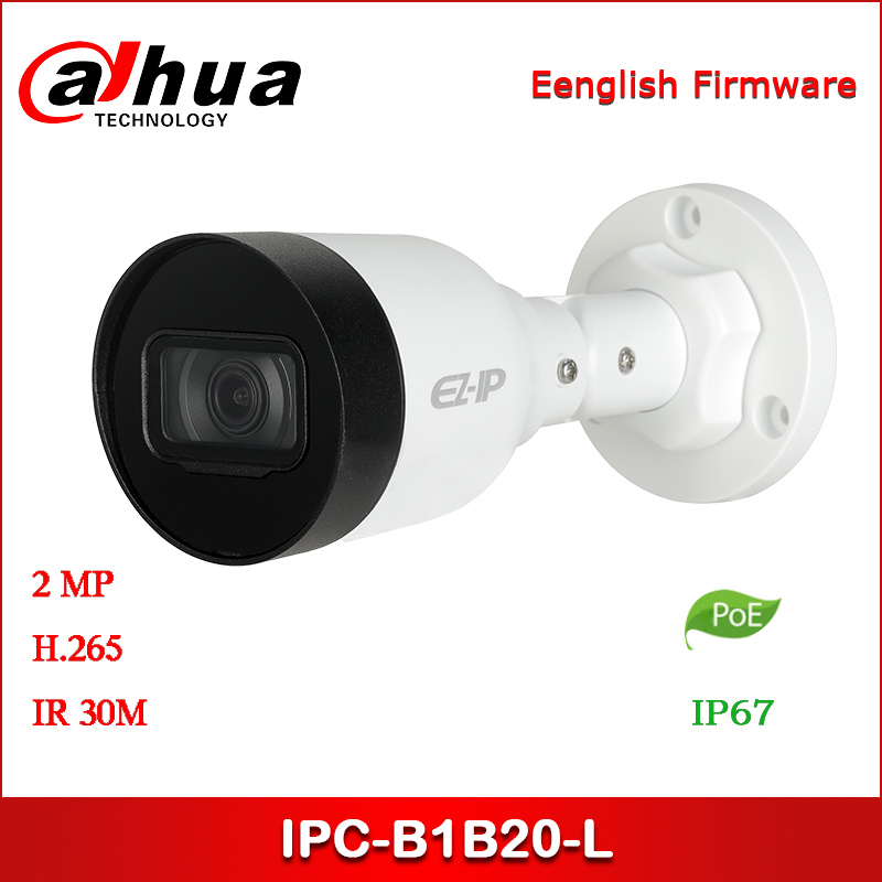 Dahua EZ IP Camera IPC-B1B20-L IPC-HFW1230S1-L 2MP 2.8mm 3.6mm Fixed Lens IR Mini-Bullet Network Camera With POE Security Camera