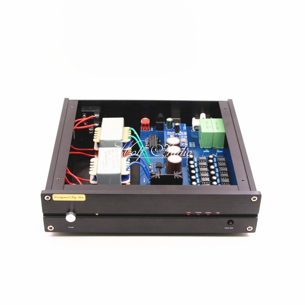 Nuovo Elenco Finito 16X Parallelo TDA1543HiFi Audio Decoder DAC PCM2706 DAC USB