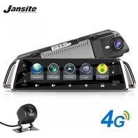 Jansite 4G регистраторы Android 5,1 автомобиля камера 10 дюймов сенсорный экран gps навигации автомобиля видео регистраторы Bluetooth Wi Fi зеркало заднего в