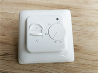 AC220V 16A floor heating thermostat  Room thermostat with 3 meters prob NTC temperature sensor