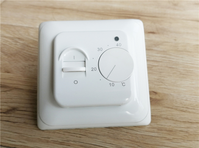 AC220V 16A floor heating thermostat, Room thermostat with 3 meters prob NTC temperature sensor