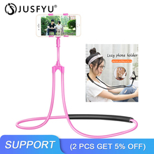 Desktop Bed Lazy Mobile Support Bracket Lazy Hanging Neck Phone Stands Bed 360 Rotating Flexible Long Arms Mobile Phone Holder