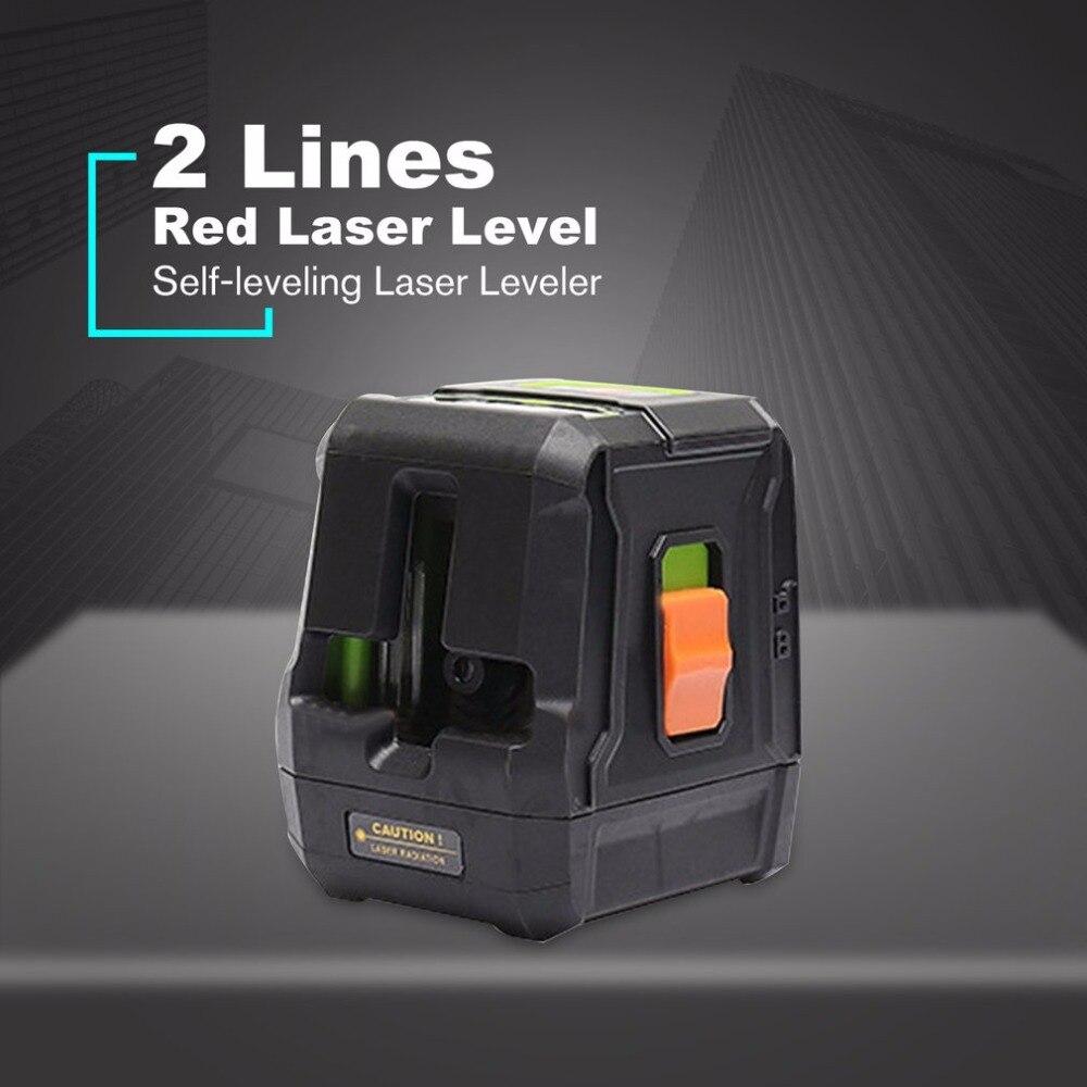 Niveaux Laser portables faisceau rouge vert 2 lignes Instrument de nivellement auto-nivellement Laser niveleur Vertical Horizontal ligne transversale
