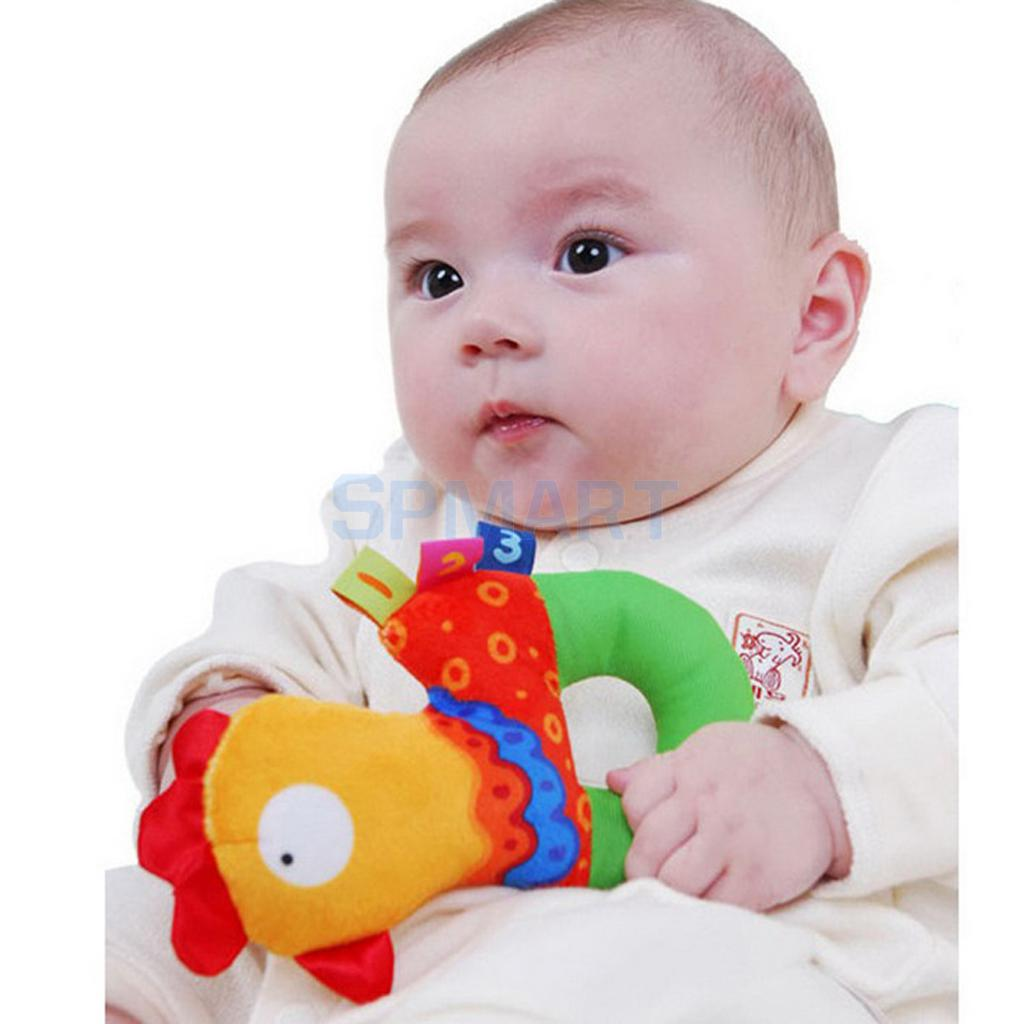 Multicolor Chicken Model Handbells Rattles Plush Rattles Baby Rattles Toys