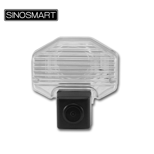 SINOSMART In Stock High Quality Car Reverse Parking Camera for Toyota Corolla Vios Firm Installation in Number Plate Light Hole