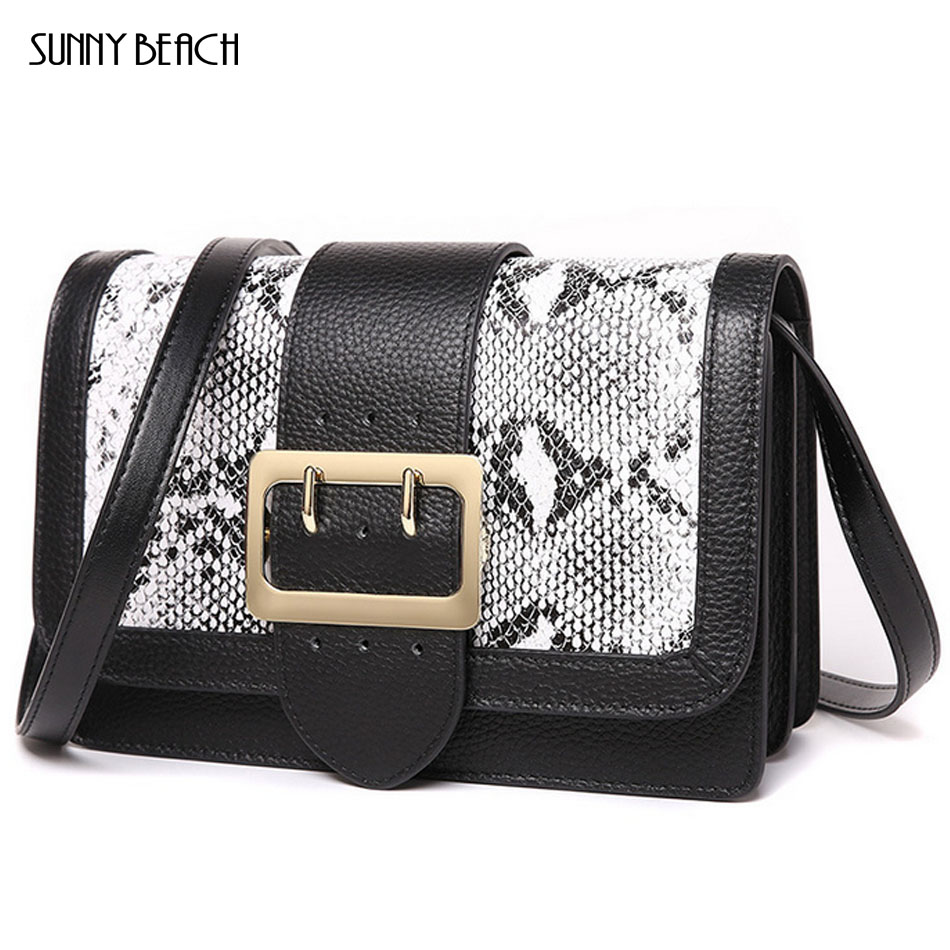 SUNNY BEACH Famous brand Genuine Leather women bag shoulder bag Crossbody Bags with tote bags