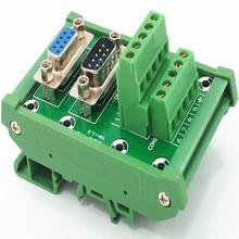 D SUB DB9 DIN Rail Mount Interface Module Mannelijke/Vrouwelijke Header Breakout Board, Klemmenblok, Connector.