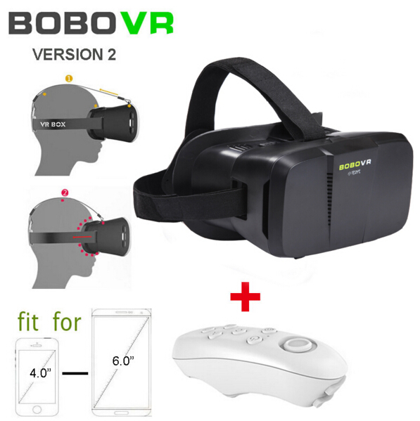 "BOBOVR 3D <font><b>Video</b></font> <font><b>Glasses</b></font> <font><b>Virtual</b></font> <font><b>Reality</b></font> VR <font><b>Head</b></font> <font><b>Mount</b></font> Google Cardboard Oculus VR <font><b>for</b></font> 4""~6"" Smartphone + Bluetooth Controller"