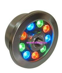 CE  IP68  ze stali nierdzewnej  9 W RGB doprowadziły basen światła  RGB podświetlana fontanna LED  DS 10 36 9X1 W  12 V DC  zmiana koloru RGB  2 lata gwarancji|9w rgb|led rgb lightled light led -
