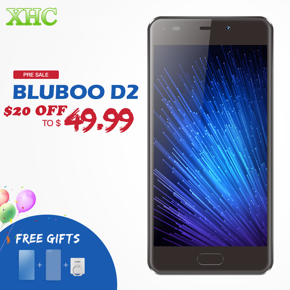 BLUBOO D2 Dual SIM Smartphones RAM 1GB ROM 8GB Dual Rear Cameras 5.2 inch Android 6.0 MTK6580A Quad Core WCDMA 3G Mobile Phones