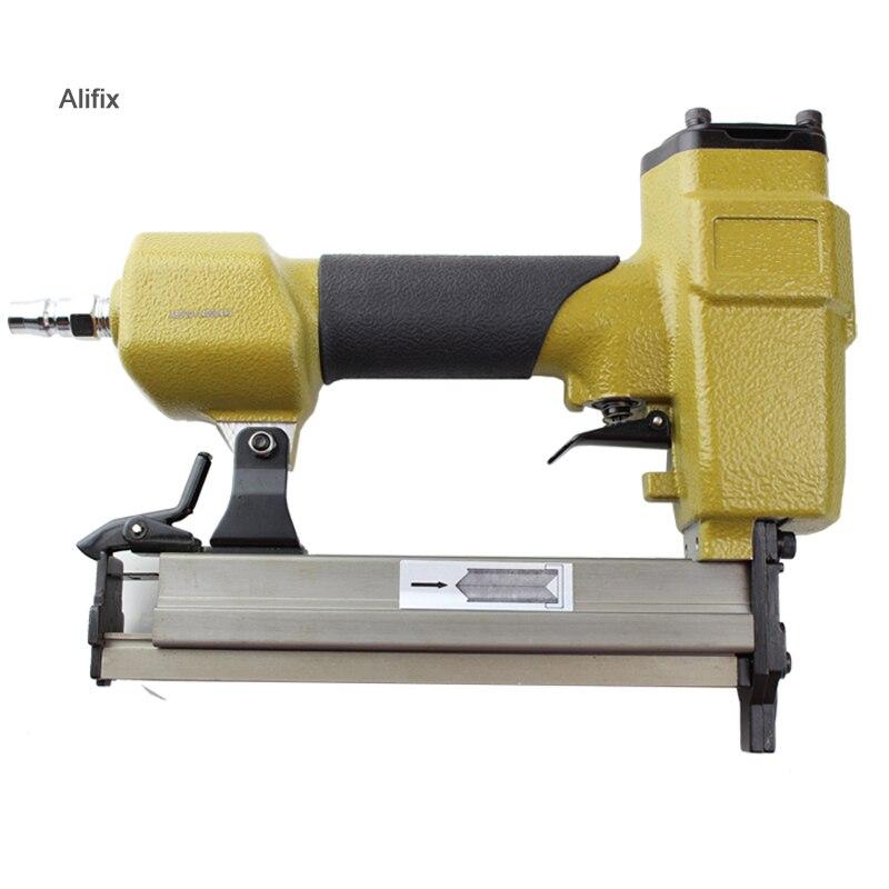 High Quality V1015B Pneumatic Stapler Air Nail Gun nailer V type nail 10.3MM Crown Pneumatic Air Stapler For V Nail-in Nail Guns from Tools    2