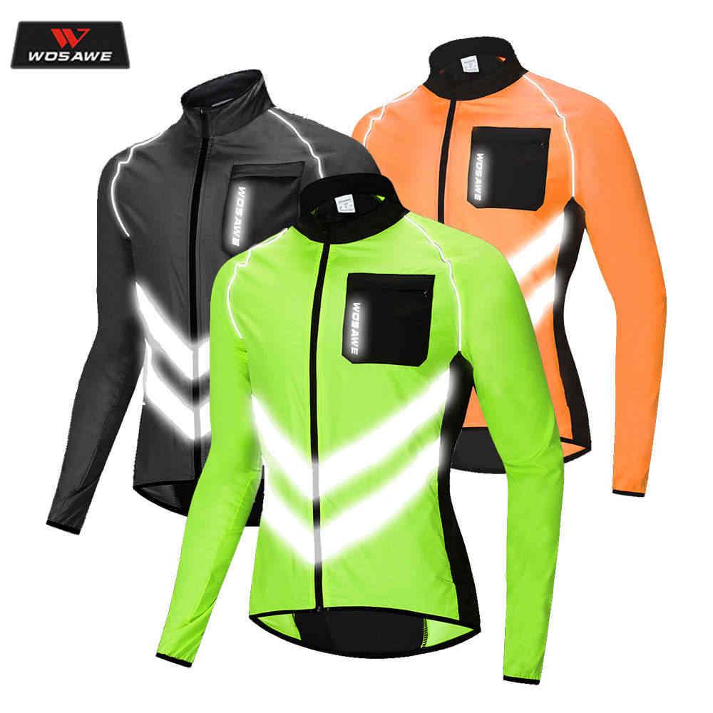 WOSAWE Giubbotto Moto De Alta visibilidade Motocicleta Jaqueta Corta-vento WindCoat Mulheres Dos Homens À Prova D' Água Segurança Motocross Mountain Bike