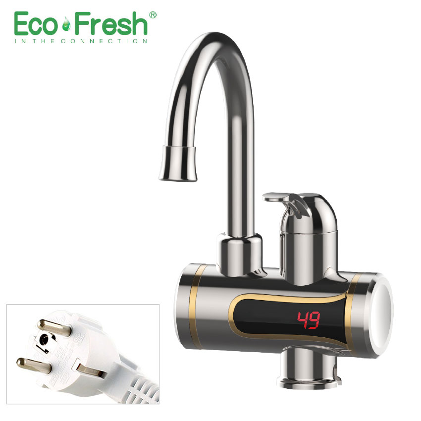 Ecofresh Electric Kitchen Water Heater Tap Instant Hot Faucet Heater Cold Heating Faucet Tankless Instantaneous Water Heater