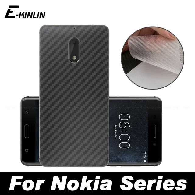 brand new 8f759 e6bfa US $1.52 31% OFF|Carbon Fiber Rear Back Cover Screen Protector Protective  Film For Nokia 8 Sirocco X7 7 Plus 6 5 3 8.1 6.1 2018 No Tempered Glass-in  ...