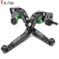 ER 6N Logo 6 Color CNC Motorcycle Brakes Clutch Levers For KAWASAKI ER6N ER 6N 2009