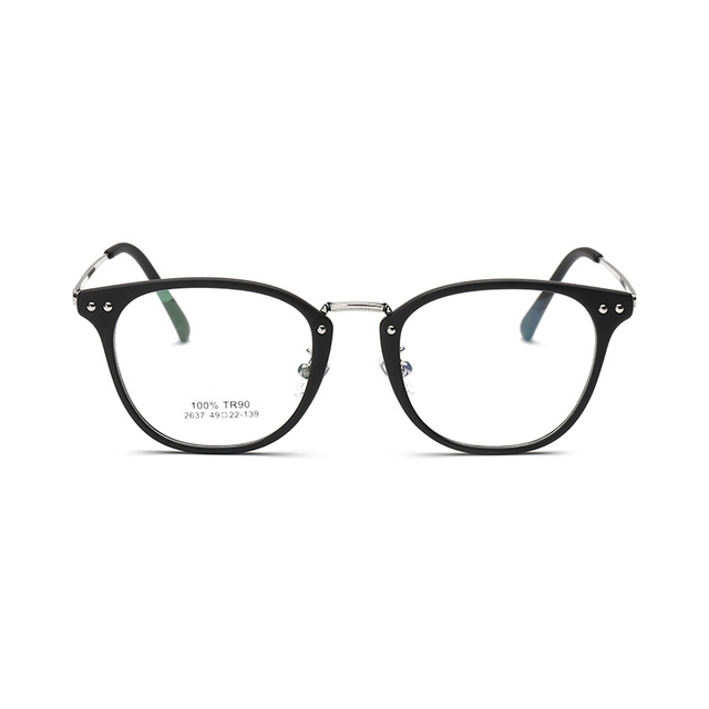 2017 Fashion Retro Round Glasses Frame clear lens optics eyeglasses Brand designer spectacles Glasses Prescription eyewear 2637