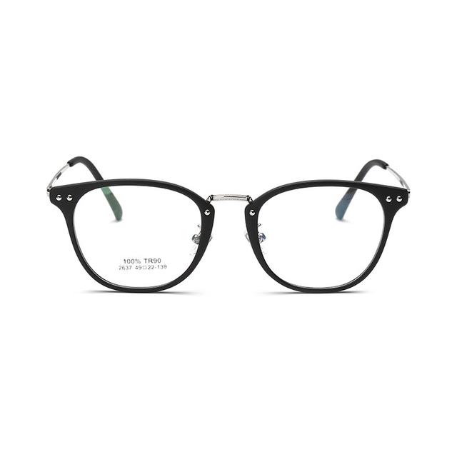 2017 Moda Retro Rodada Óculos de Armação clara lente ótica óculos Marca designer óculos Óculos de Prescrição óculos 2637