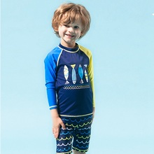 Baby Boys Quick-dry Ruffles Cartoon Swimwear Bikini Set Outfits Swimsuit Bathing Suit Two Pieces Toddler