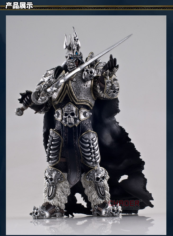 17cm Popular Online Games Garage Kits,mighty Lich King Action Figure, Arthas Menethil and His Grief of Frost Model with Gift Box hot wow dc7 fall of the lich king arthas action figure model toy 21cm free shipping ka0447