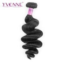 Yvonne Vague Lâche Brésilienne Vierge de Cheveux 1 Pièce Couleur Naturelle 100% de Cheveux Humains Tissage Livraison gratuite