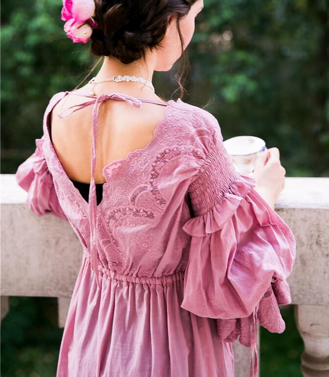 Image 4 - High Quality Dress Elegant Sleepwear Nightdress Women Nightgown Pregnant women Sleepwear Bride Gowns Dress High Qualityelegant sleepwearwomens nightgownwomen sleepwear -