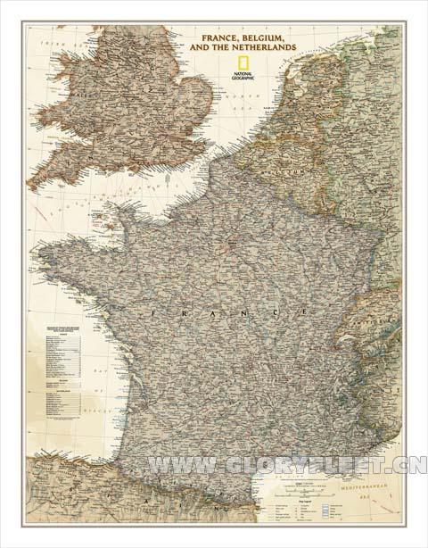 South Of France Map Detailed.Large Vintage South France Map Bar Cafe Home Decoration Detailed