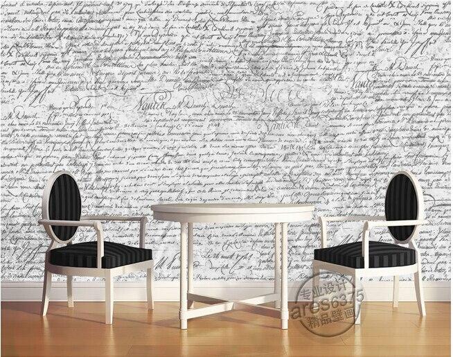 Custom 3D murals,Retro handwriting English , living room sofa TV wall bedroom background wall paperCustom 3D murals,Retro handwriting English , living room sofa TV wall bedroom background wall paper