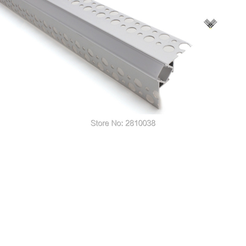 50 X 2M Sets/Lot 180 degree beam angle led profile light V style led aluminum channel extrusion for wall recessed light