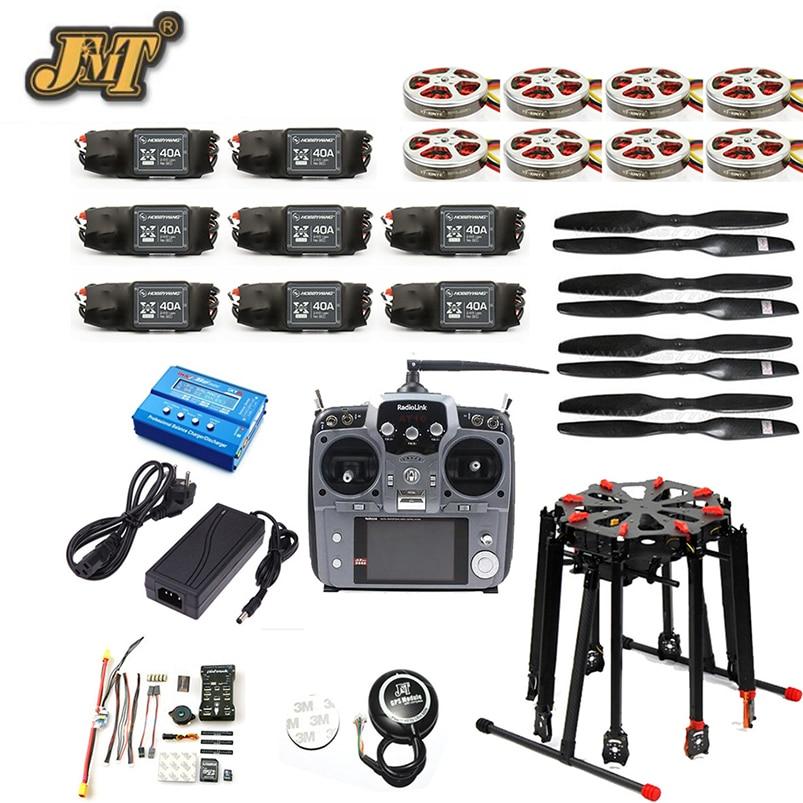 JMT Pro 2.4G 10CH RC 8-Axle Octocopter Drone Tarot X8 Folding PIX PX4 M8N GPS ARF/PNF DIY Unassembly Kit Motor ESC f11270 tarot x8 8 aixs umbrella type folding multicopter uav octocopter drone tl8x000 with retractable landing gear