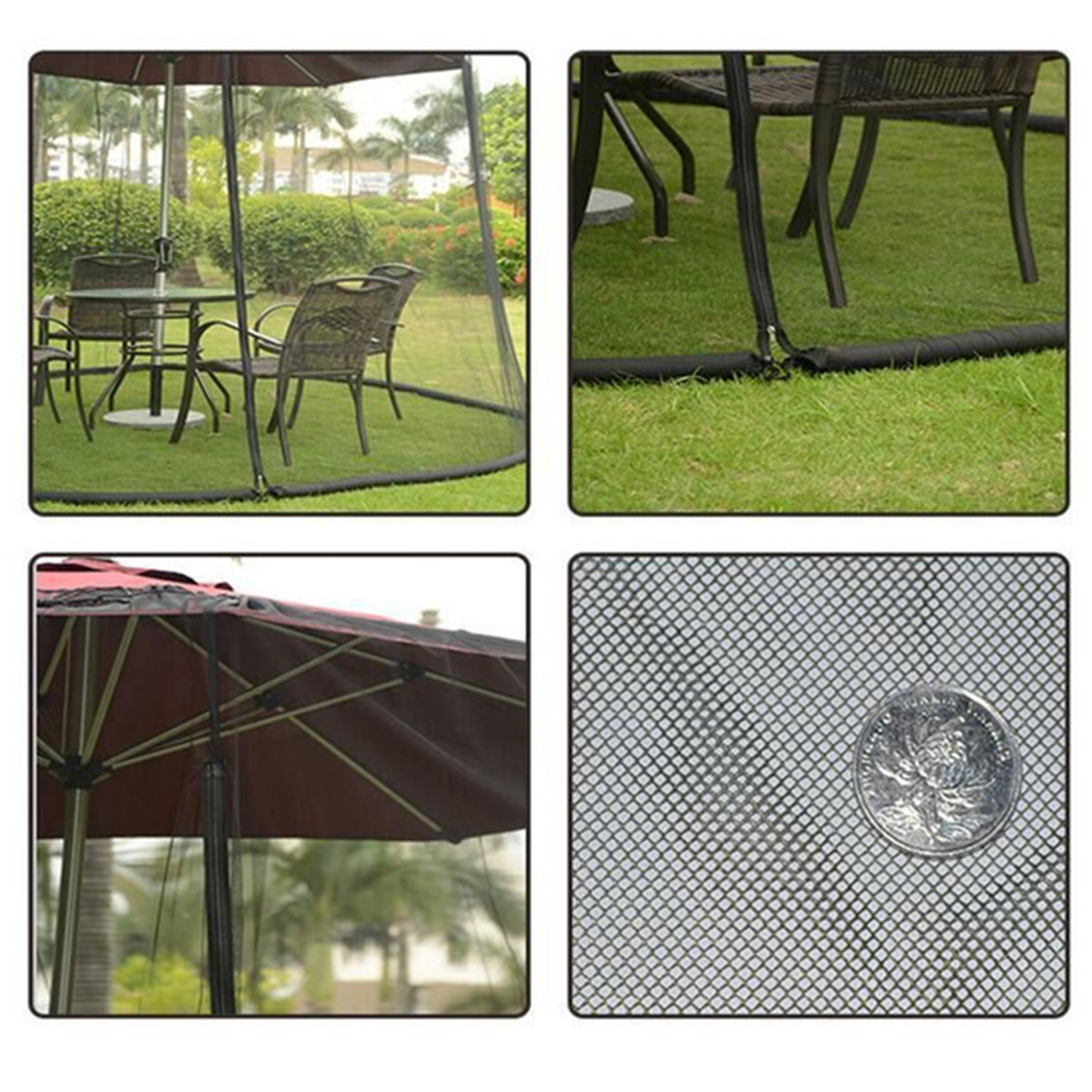 New Yard Umbrella Screen Cover Mosquito Bug Insect Net Repellents Outdoor  Patio Netting Garden Pest Control Supplies 335*220cm In Repellents From  Home ...