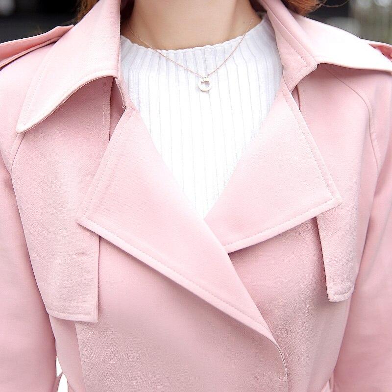 Femme Tnlnzhyn S 2xl beige Trench black Y517 vent Ceintures Coupe Femmes  2019 Automne Manteau Survêtement Gray Laples pink Moyen Printemps ... 1f35cf299aa