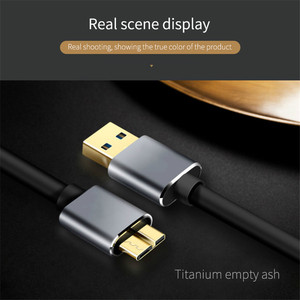 Image 5 - USB 3.0 Cable Fast Speed USB Type A Micro B Data Sync Cable Code for External Hard Drive Disk HDD Samsung S5 Note 3