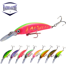 Купить с кэшбэком Minnow Fishing Lures 70mm 5.7g Wobblers Floating Long Lip Crankbait Hard Bait Japan Pesca Isca Artificial Pike Carp Swimbait