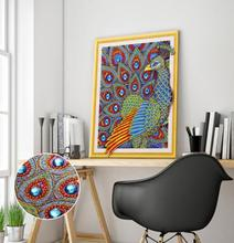 New 5d diamond painting shaped animal living room small peacock embroidered decorative