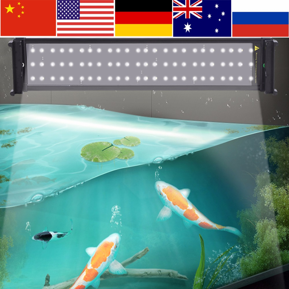 Aquarium Fish Tank Light 72 Led Waterproof Pool Light 51cm Submersible Underwater Lights With Extendable Brackets Eu Plug Aromatic Character And Agreeable Taste Lights & Lighting Led Lamps