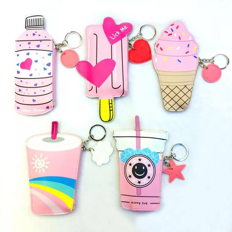 Novel creative children wallet ice cream shape novel unique funny cute welcome wholesaler retailer men and women cute coin bag
