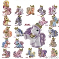 20 pcs/set  4cm-5cm  LPS Cute Simba Filly Horse Toys Unicorn Horse  Mixed Styles Little Action Figure Horse For Baby Doll