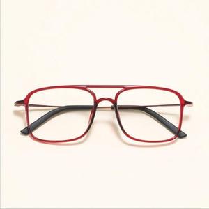 Image 5 - Super Light Square ULTEM Eyeglasses Double Beam Glasses Frame Men and Women Models Tide Big Face Comfortable 7g