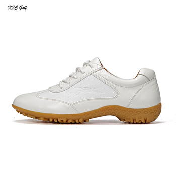 Price Golf Shoes for Men Genuine Leather Waterproof Golf Shoes Mens Breathable Shoes Slip Resistant Sports Training Shoes D0604