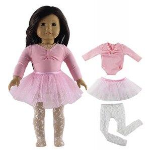 Image 4 - 1 סט בלט חצאית בובת בגדי עבור 18 אינץ אמריקאי בובה בעבודת יד אופנה יפה בגדי X04
