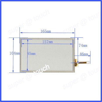 ZhiYuSun NEW KDT-5663 touch screens 7inch 4 lines touch screen 165* 104mm screen free shipping The glass thicknes is 2.2mm
