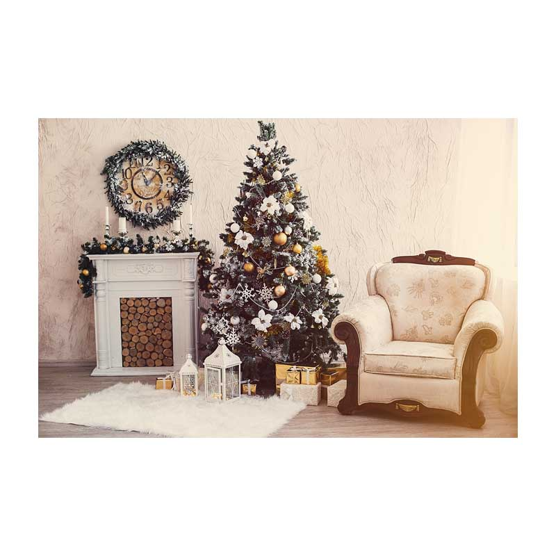 Horizontal vinyl print 3D warm white Christmas living room photography backdrop for photo studio portrait backgrounds ST-511 8x10ft valentine s day photography pink love heart shape adult portrait backdrop d 7324