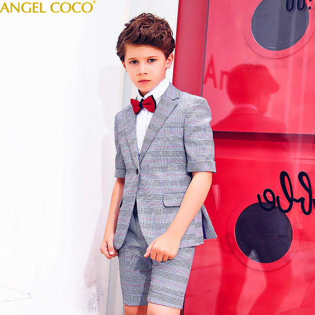 134ea84550bf Kids Blazer Baby Boys Suit Jackets 2018 Spring Coat Pants 4 Piece Boy Suits  Formal For Wedding Summer Chlidren Clothing Garcon