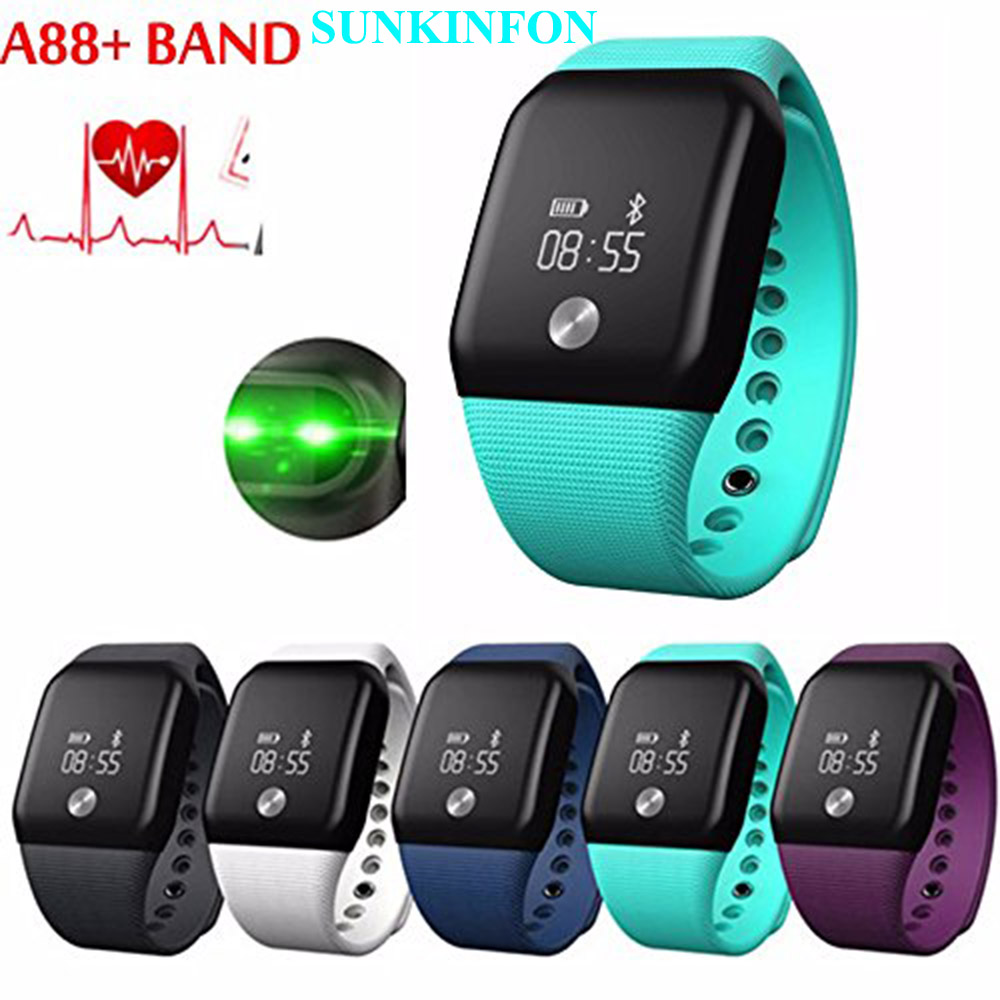A101 Sports Smart Wristband Bracelet Watch Blood Oxygen Pedometer Heart Rate Monitor for Huawei Sony Xiaomi LG OPPO ViVo Phones