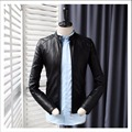 M-3XL Autumn New Youth Men's PU leather motorcycle jacket Korean fashion short paragraph PU leather jacket coats tide