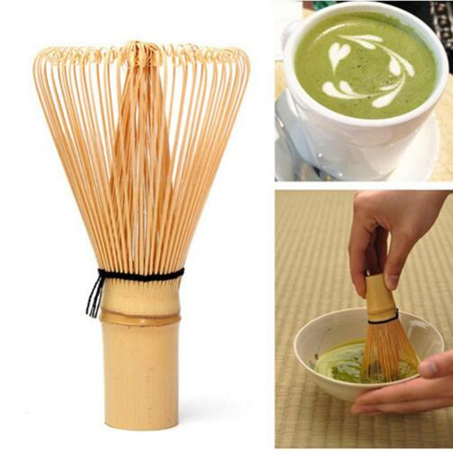 Japanese Ceremony Bamboo 64 Matcha Green Tea Powder Whisk Matcha Bamboo Whisk Bamboo Chasen Useful Brush Tools Tea Accessories
