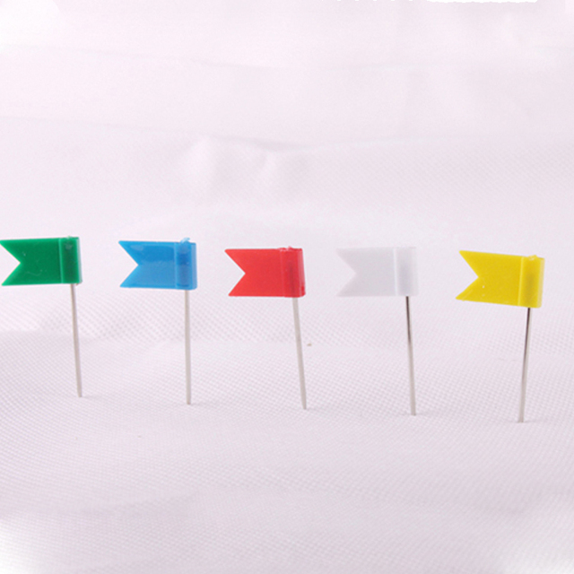 Pcs Color Flag Push Pins Office Home School Supplies Cork Board - Flag pins for maps