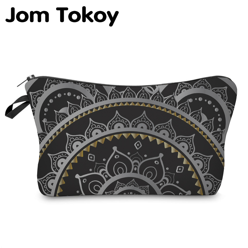 Jom Tokoy Cosmetic Organizer Bag Make Up Printing Mandala Cosmetic Bag Fashion Women Brand Makeup Bag Hzb916