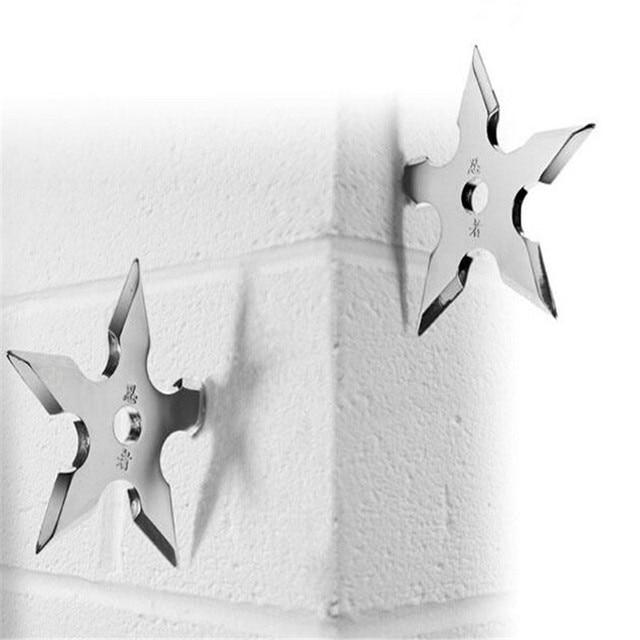 Wall Coat Hook Metal hanger Novelty Home Decor Star Dart Shape Ninja Cool  Stainless Steel Clothes